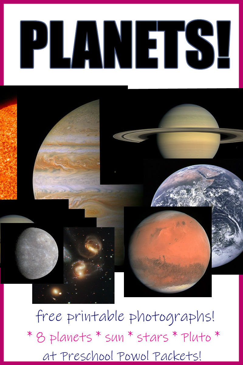 photo regarding Planets Printable named Planets Printable Images -- Absolutely free! Preschool Powol Packets