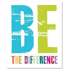 "This logo says, ""Be the Difference,"" and is meant to remind our students and staff that we are in charge of making a positive difference at Swampscott Middle School."