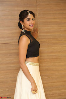 Roshni Prakash in a Sleeveless Crop Top and Long Cream Ethnic Skirt 044.JPG