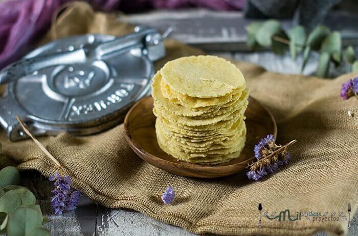 receta de tortillas de maiz
