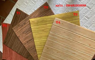 Mẫu xốp dán tường giả vân gỗ