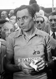 Fausto Coppi pictured after winning his second Tour de France in 1952