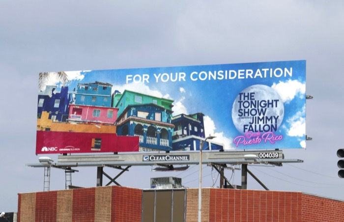 Jimmy Fallon Puerto Rico Emmy FYC billboard