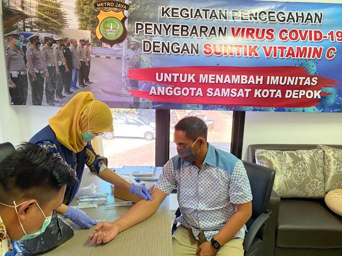 Antisipasi Penyebaran Covid-19, Anggota Samsat Depok Jalani Rapid Test
