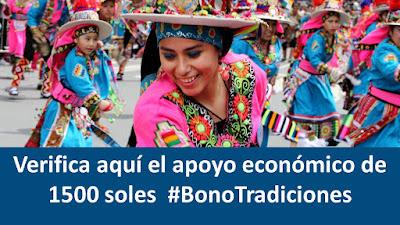 Bono1500 apoyo económico a personas naturales fomento al #BonoTradiciones