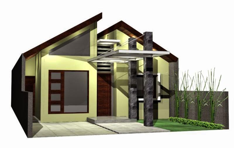 Rumah Minimalis Atap Seng Gambar Om