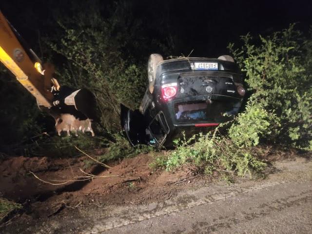 Animal na pista provoca acidente na BA-130, entre Macajuba e Baixa Grande