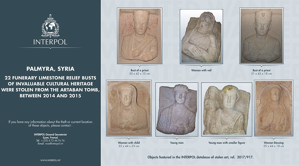 INTERPOL's Most Wanted stolen works of art lists ~ ARCAblog