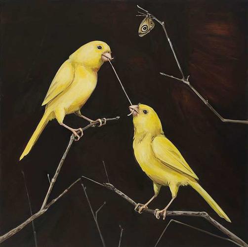 "79c97d8f553 ""The world of Joanna Braithwaite s painting is part menagerie"