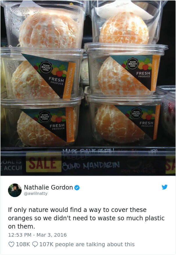 18 Times Product Packaging Contributed To The Great Global Waste Problem Of Our Times - If Only Nature Found A Way To Cover These Oranges So That We Did Not Need To Waste So Much Plastic On Them