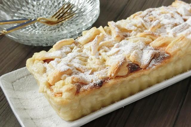 冷凍パイシートでつくるポーランドのお菓子・梨のタルト風