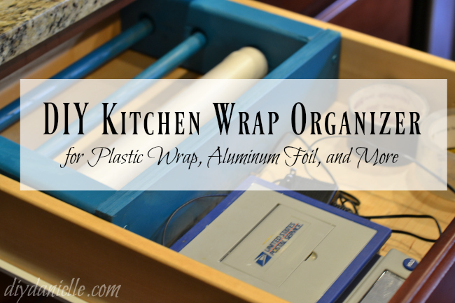 DIY Kitchen Drawer Organizer for Kitchen Wrap