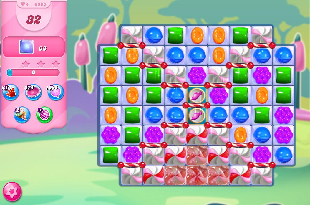 Candy Crush Saga level 8866