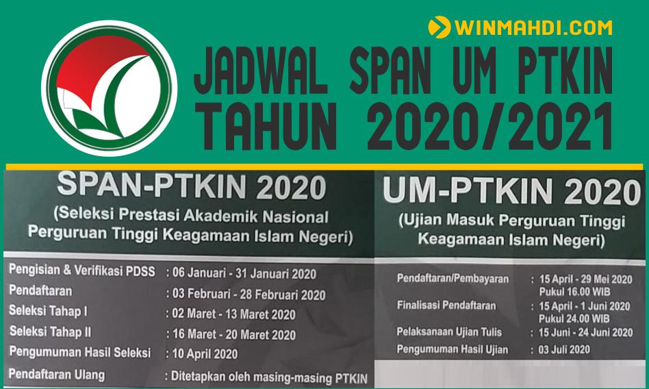 Jadwal SPAN UM PTKIN 2020