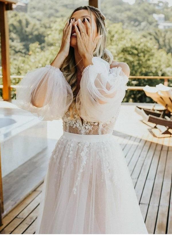 vestido de noiva casamento ao ar livre