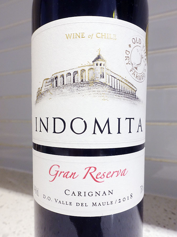 Indomita Old Vines Dry Farmed Gran Reserva Carignan 2018 (90 pts)
