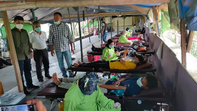 Peringati Hari Lingkungan Hidup FSPMI dan KSKC Gelar Ragam Kegiatan di Rumah Buruh Kegiatan donor darah di Rumah Buruh Bekasi