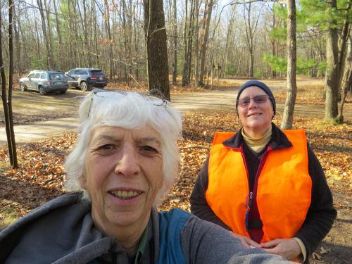 selfie of two hikers