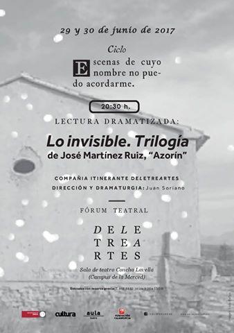 "Lectura dramatizada ""Trilogía de lo invisible"" de Azorín."
