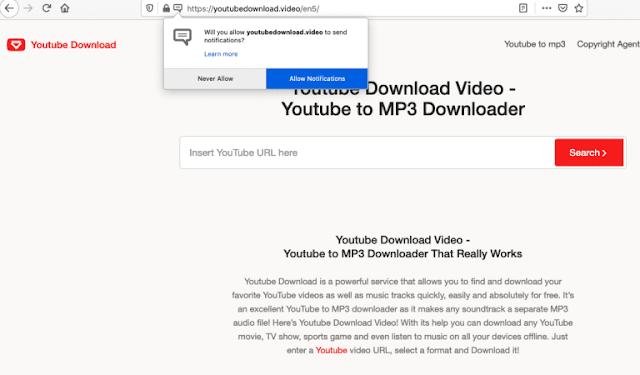Youtubedownload.video pop-ups