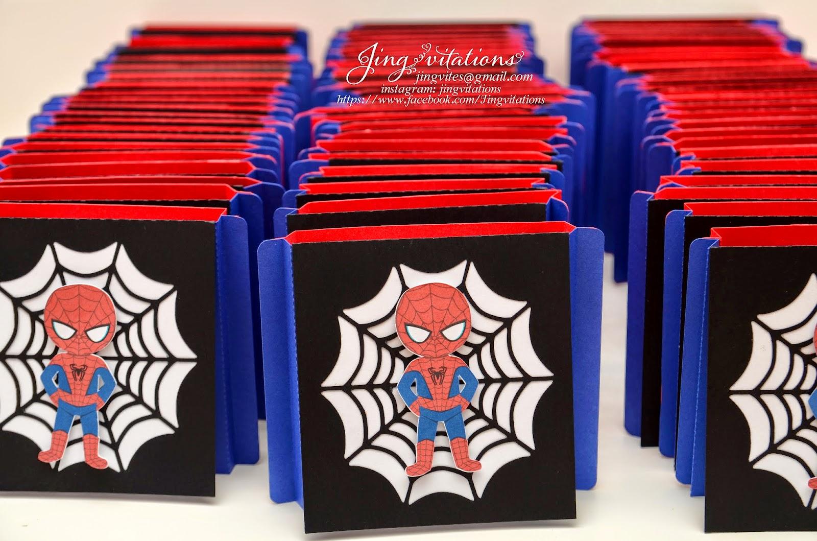 Make Your Own Spider Man Birthday Invitations And Baby Shower Handmade Spiderman