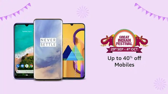 Offer and discounts on Amazon's Great Indian Festival 2019 sale