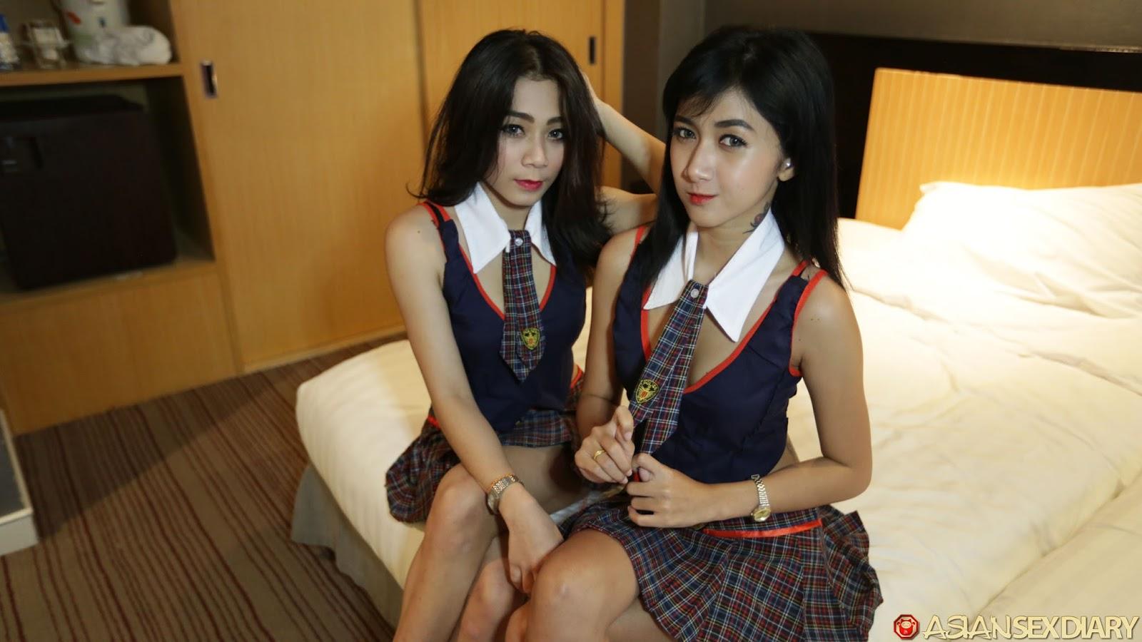 Busty Japanese Girl Threesome