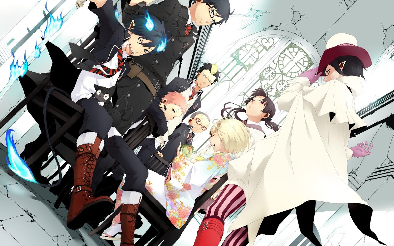 Moonlight summoner 39 s anime sekai blue exorcist ao - Rin wallpaper ...