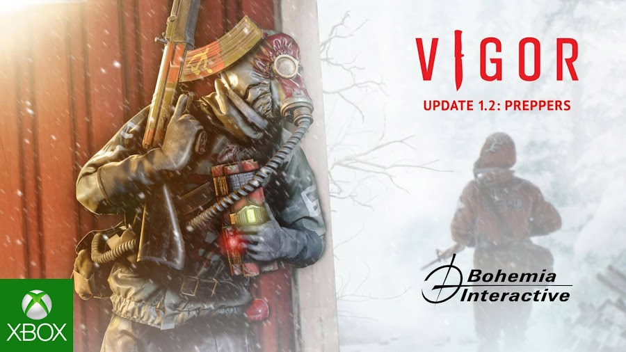 vigor update 1.2 preppers battle pass outlanders december 2019 xbox one bohemia interactive xbox one bohemia interactive
