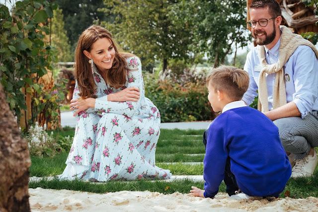 Księżna Kate z wizytą w RHS Garden Wisley