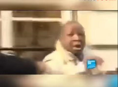 Man mistaken for Cote D'Ivoire's former president Laurent Gbagbo attacked by angry citizens in France (Video)