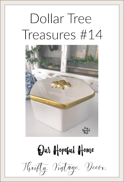 gold bee decor trinket box Dollar tree