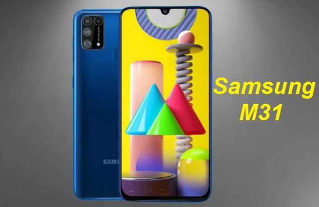 كشفت شركة سامسونغ الكورية عن هاتفها Samsung Galaxy M31 هاتف Samsung الجديد يأتي في خيارين متميزين على الأقل من ذاكرة الوصول العشوائي (RAM) ويعد إعداد كاميرا خلفية رباعية. تشمل المواصفات الرئيسية الأخرى لجهاز Galaxy M31 كاميرا سيلفي 32 ميجابكسل ، ودعم شحن سريع بقوة 15 وات ، ومقبس سماعة رأس 3.5 ملم. سيظهر Galaxy M31 كخليفة لهاتف Samsung Galaxy M30. من المتوقع أيضًا أن يعمل الهاتف الذكي بنظام Android 10 بناءً على One UI 2.0.