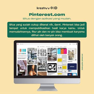Pinterest Rekomendasi Situs Buat Upload Portofolio