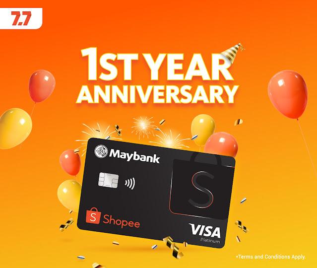 Sempena Ulang Tahun Pertama Maybank Shopee Credit Card