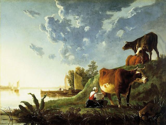 Альберт Кёйп - Вечером на лугу. 1650-55