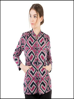 model baju batik modern wanita dress