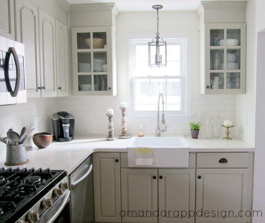 Used White Kitchen Cabinets: Amanda Rapp Design: Before & After: Kitchen Makeover