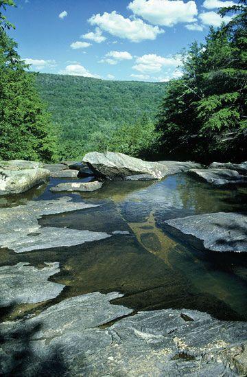Glendale Falls, Massachusetts, USA