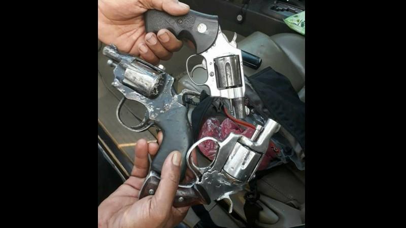 Pistol jenis revolver yang digunakan pelaku