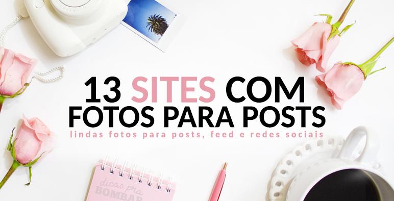13 sites com fotos para posts