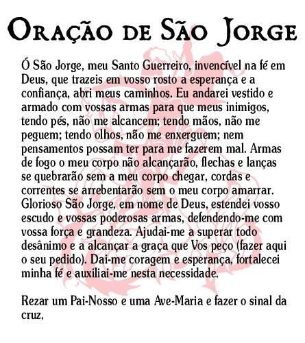 Top Tenda Espírita Fé Amor e Humildade : Oração São Jorge  IG65
