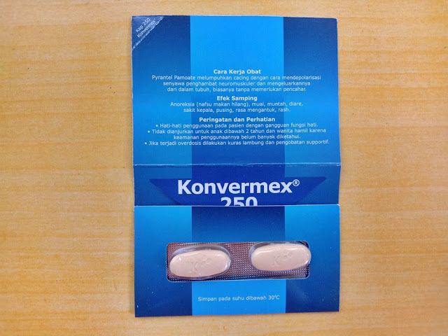 konvermex obat cacing tablet