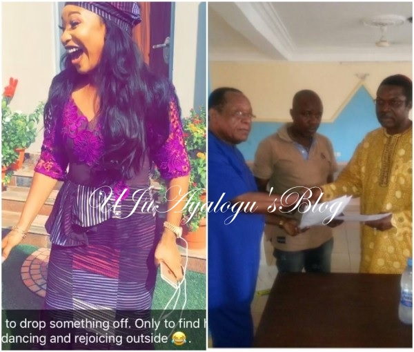 VIDEO: Tonto Dikeh celebrates the final dissolution of her marriage to Churchill.