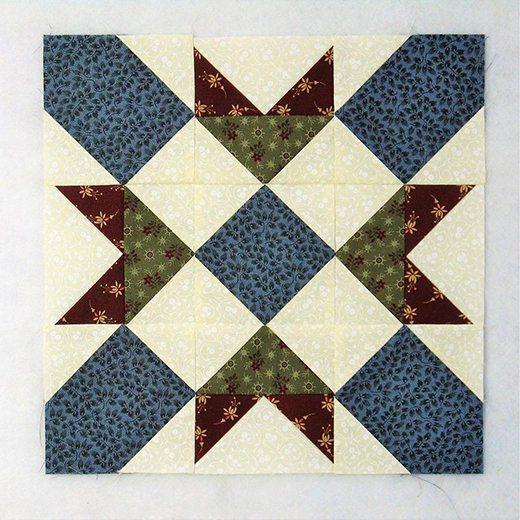 Swing in the Center Quilt Block designed by Elaine Huff of Fabric406