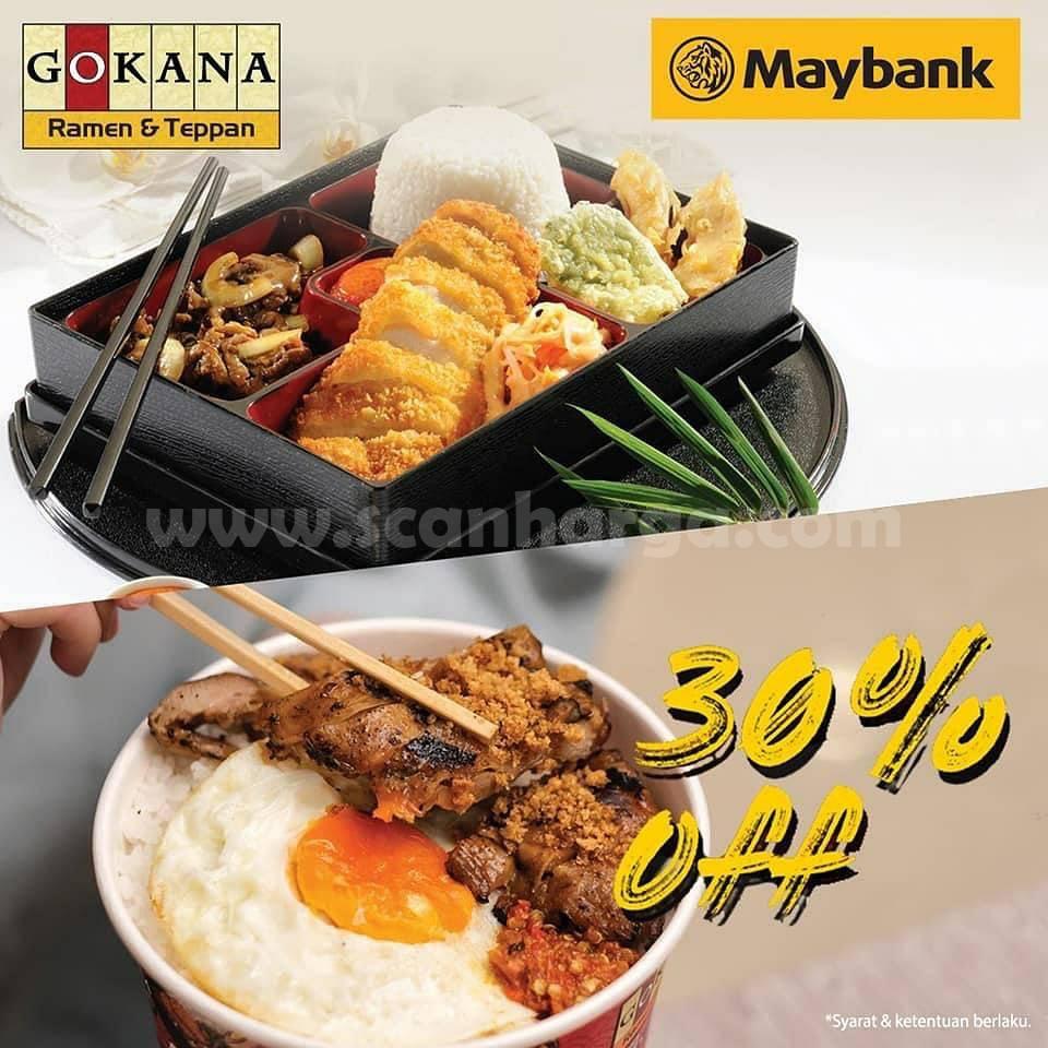 Promo Gokana Diskon 30% dengan Kartu Kredit Maybank