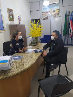 Dácio Alves, conselheiro do COREN-MA participa de reunião com a presidente da Câmara Municipal de Pedreiras.