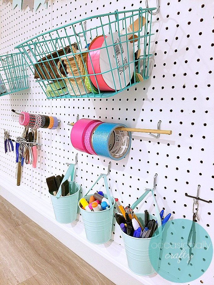 Make the most of your storage space with these easy craft room organization tips!