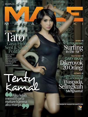 Foto Seksi Tenty Kamal di Majalah MALE