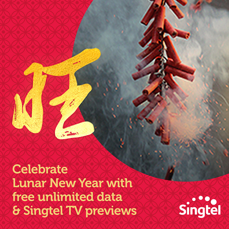 Singtel celebrates Lunar New Year with FREE unlimited mobile data